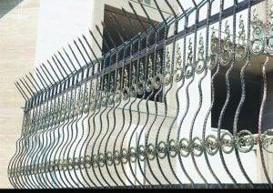 حفاظ سرنیزه دیواری مدل شکمی