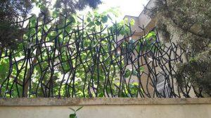 شاخ گوزنی نصب شده